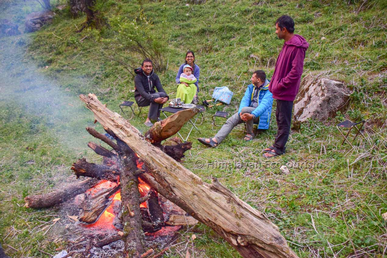 Camping in the Tirthan valley, GHNP