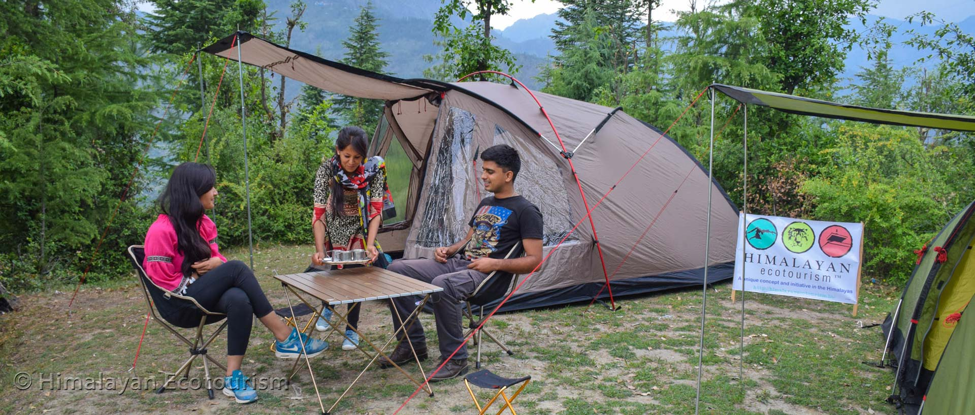 Camping in the Himalayan nature