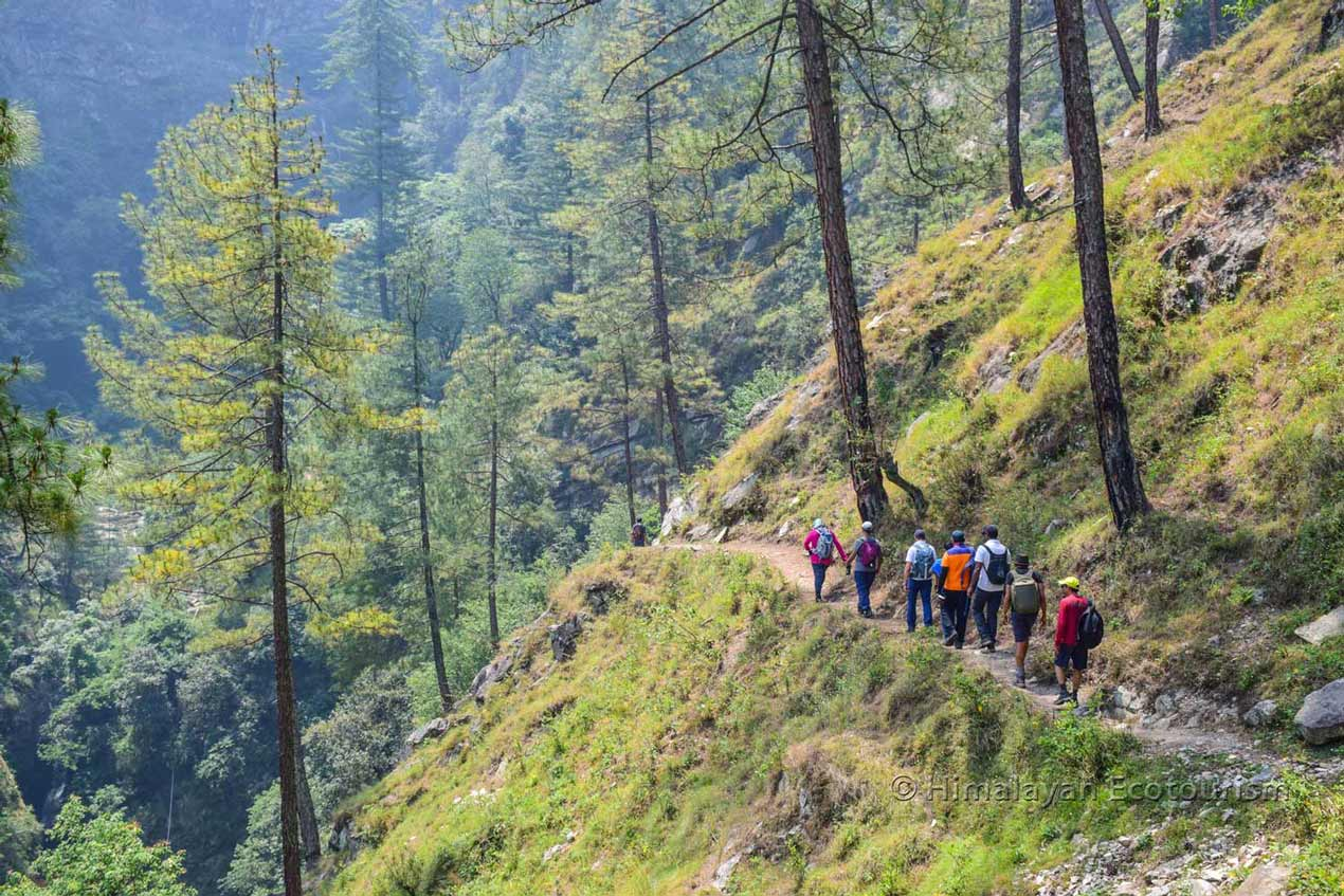 Tirthan valley - Hike to the Sairopa waterfall