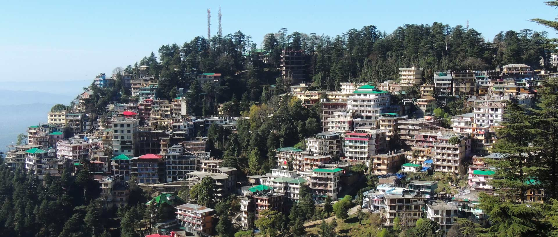View of Mcleodganj from Bhagsu