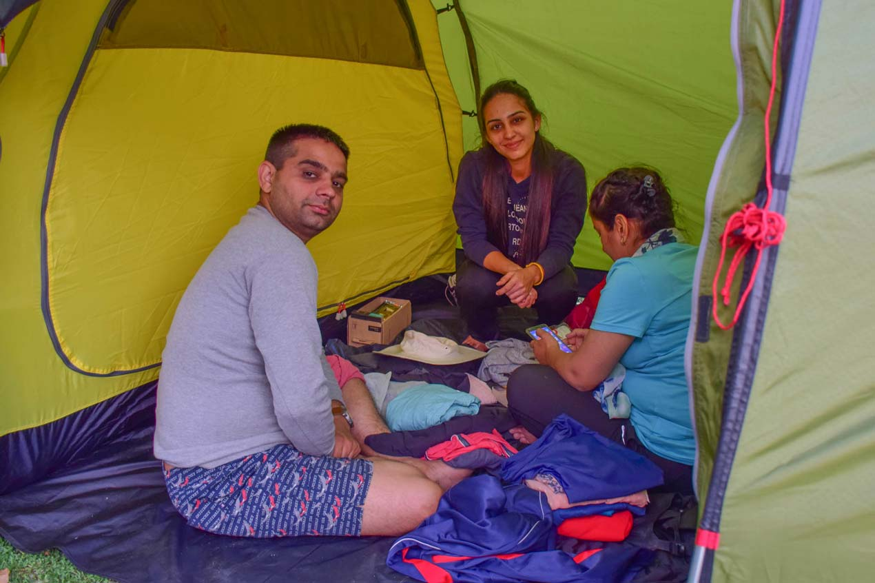 Camping equipment for treks in the GHNP
