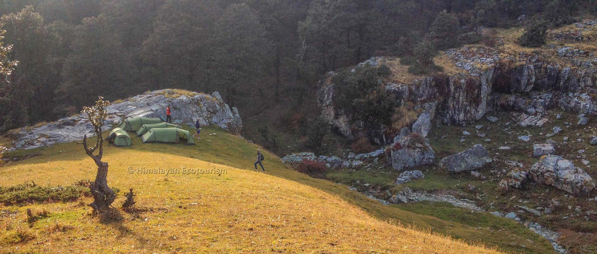 Camping at the Great Himalayan National Park GHNP