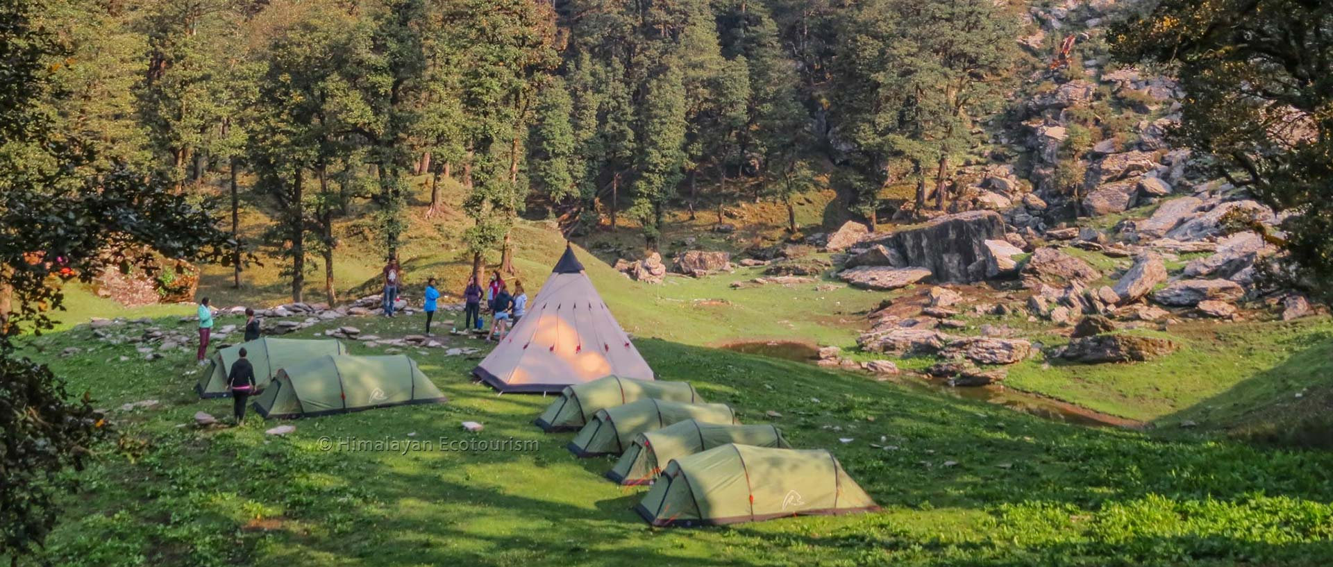Camp at Serolsar lake, Great Himalayan National Park GHNP