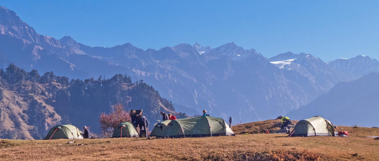 Camping in the Great Himalayan National Park GHNP
