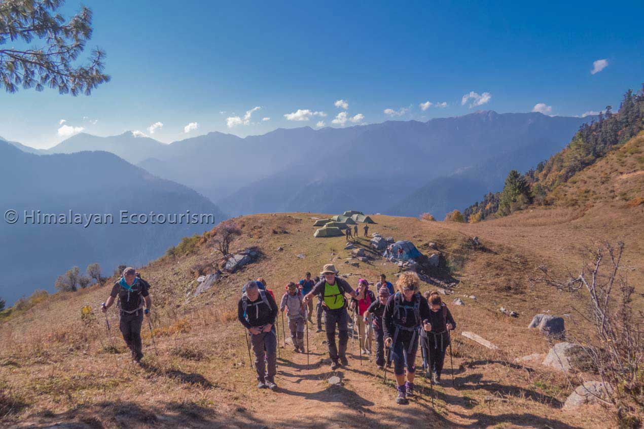 The trek to Marahni in the GHNP