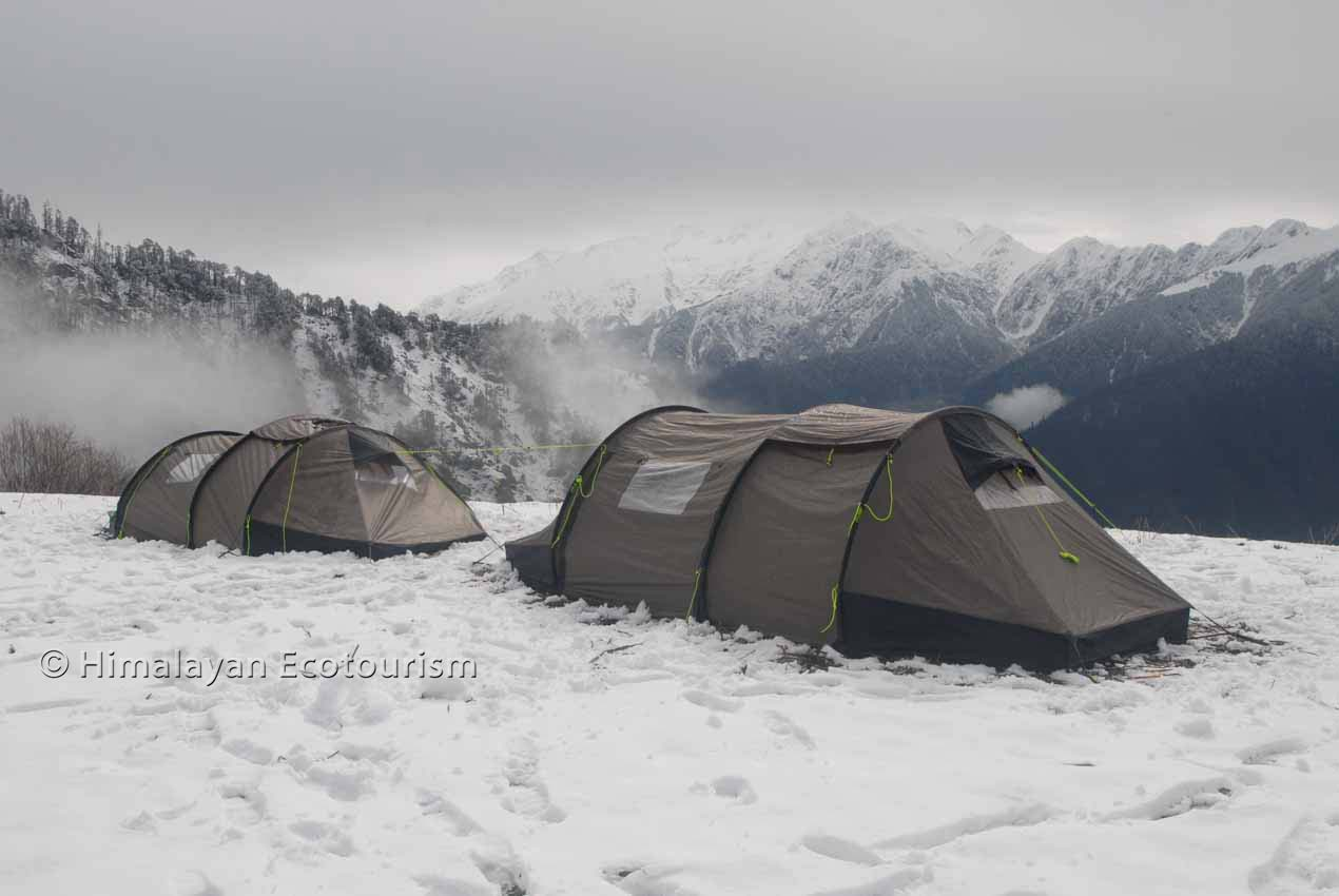 The trek to Rangthar in the GHNP
