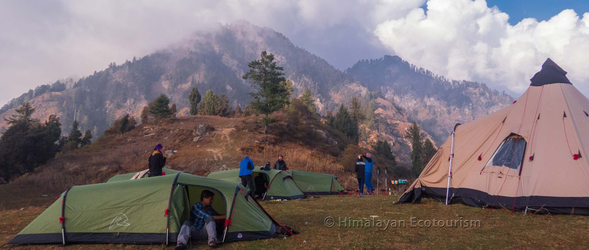 Camping at Rangthar in the Great Himalayan National Park GHNP