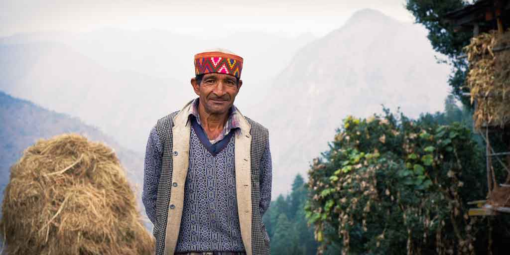 great himalayan national park photo local man