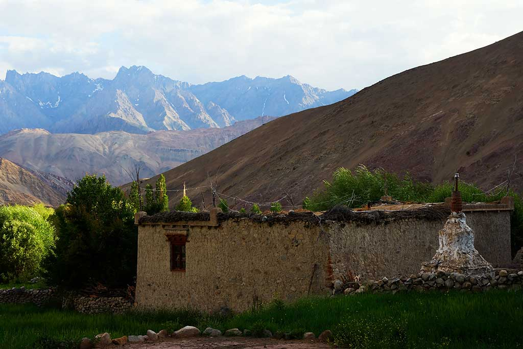 Traditional house at Hemis Shukpachan village
