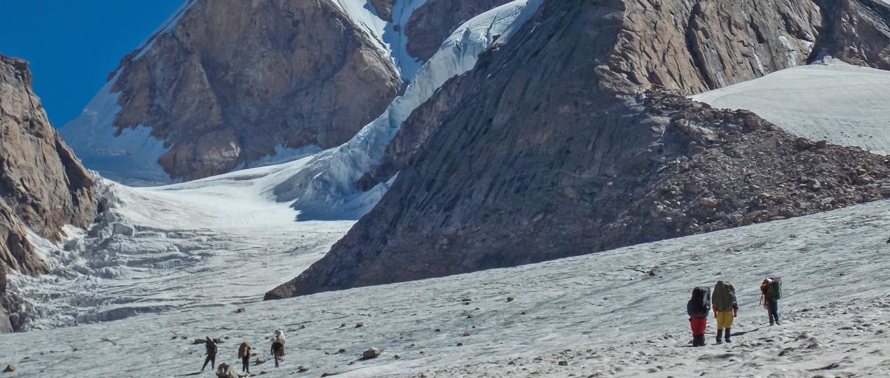 Chota Shigri glacier after crossing the pass