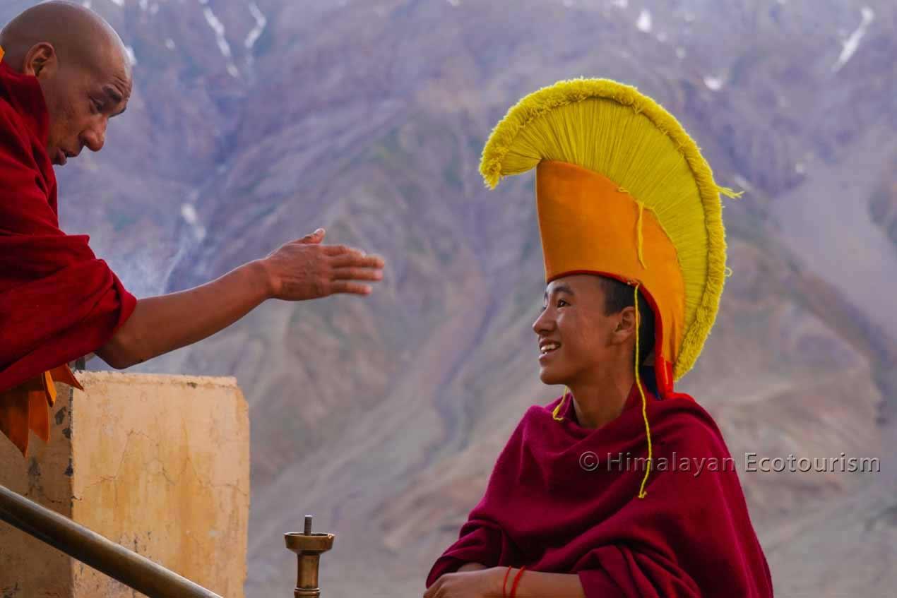 Enseignement du bouddhisme à Spiti