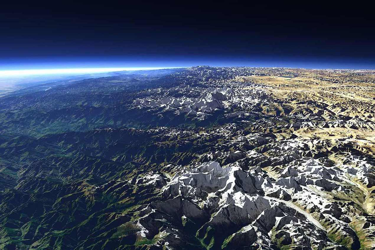 Spiti satellite view