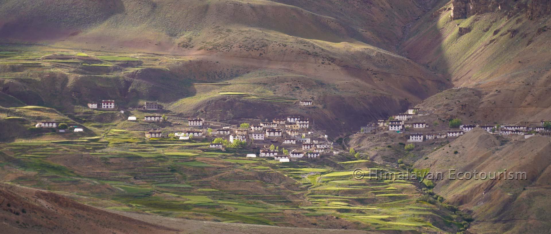 Village d'altitude dans la vallée de la Spiti