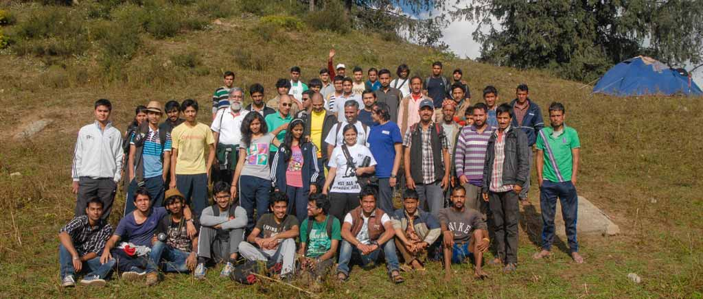Nature activities for students group in Himachal