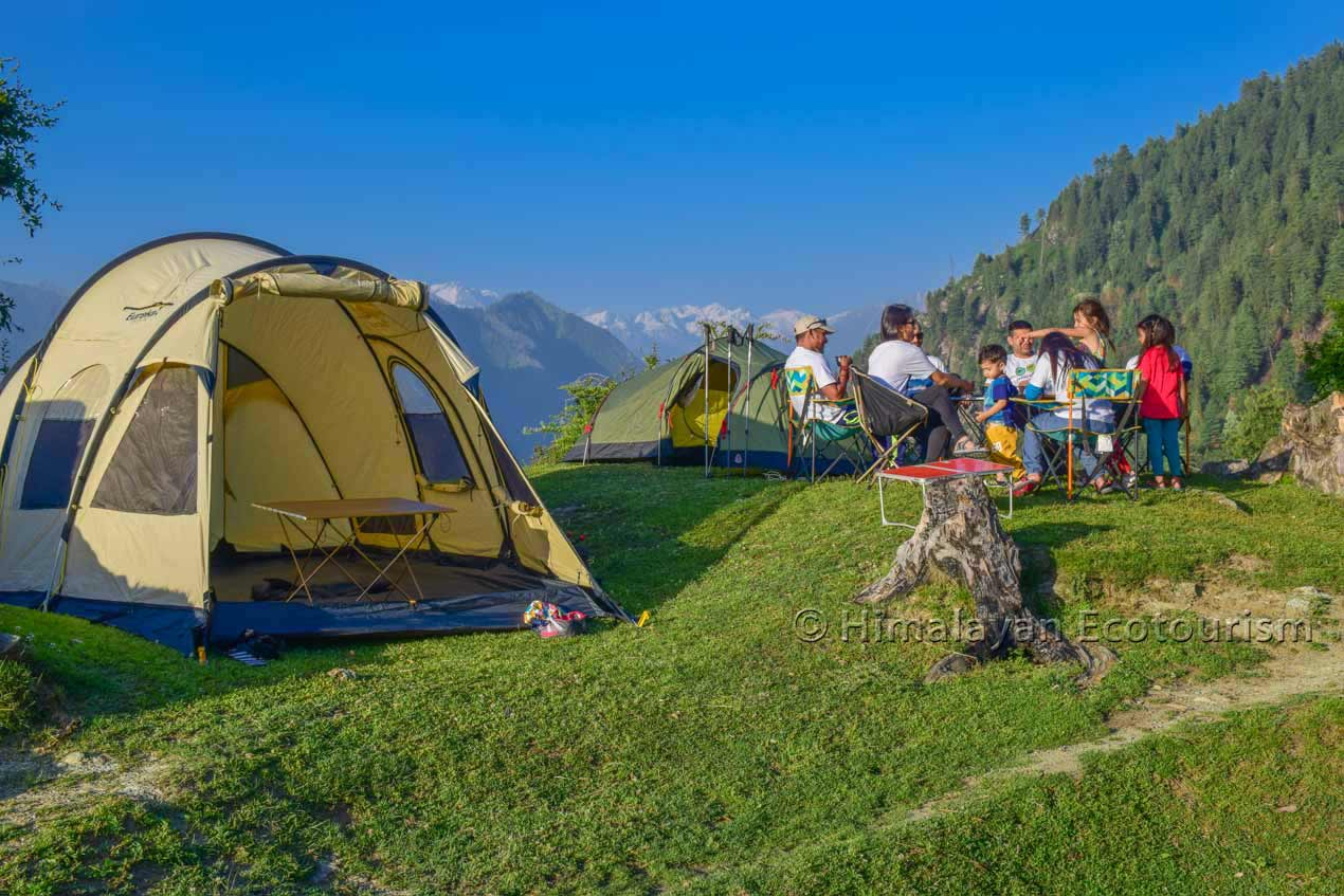 Camping in the Tirthan valley