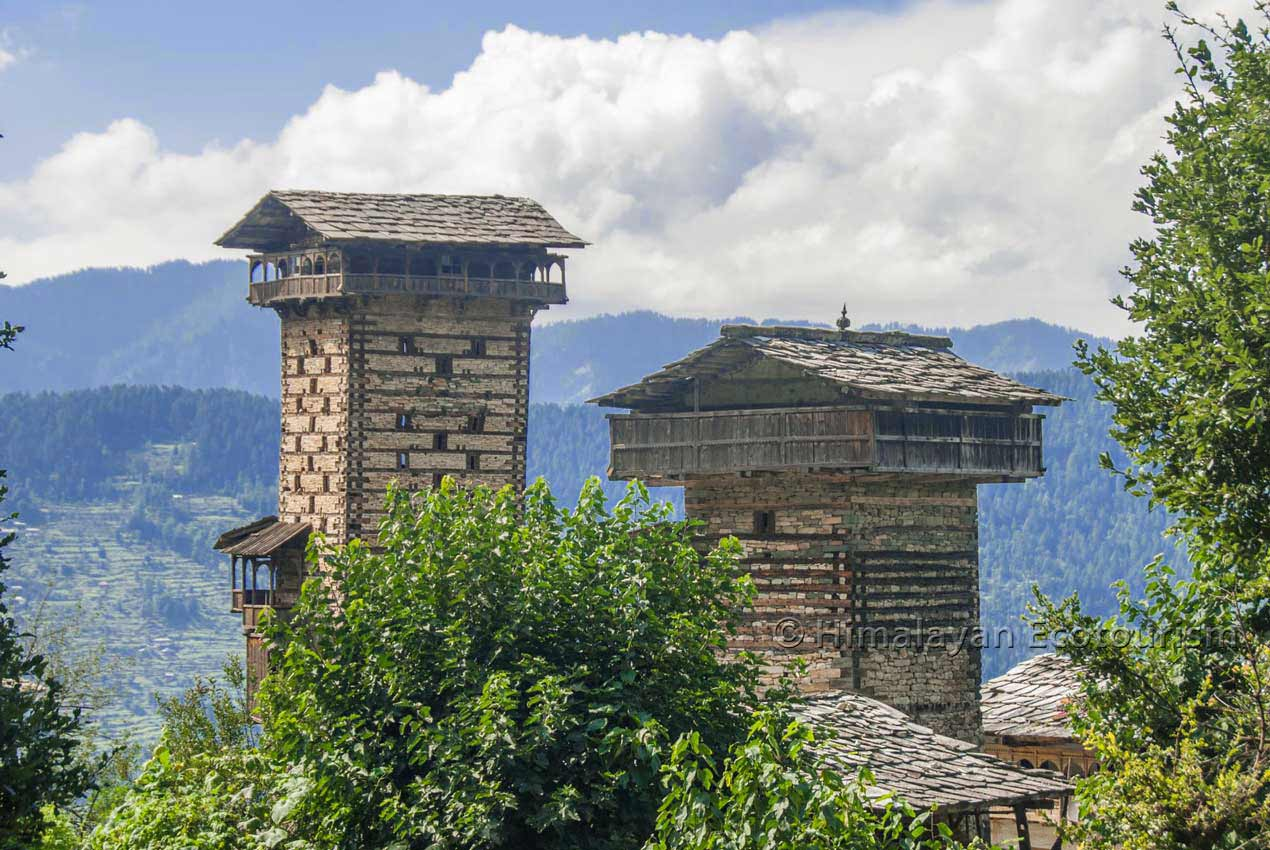 Chehni Kothi in the Tirthan valley