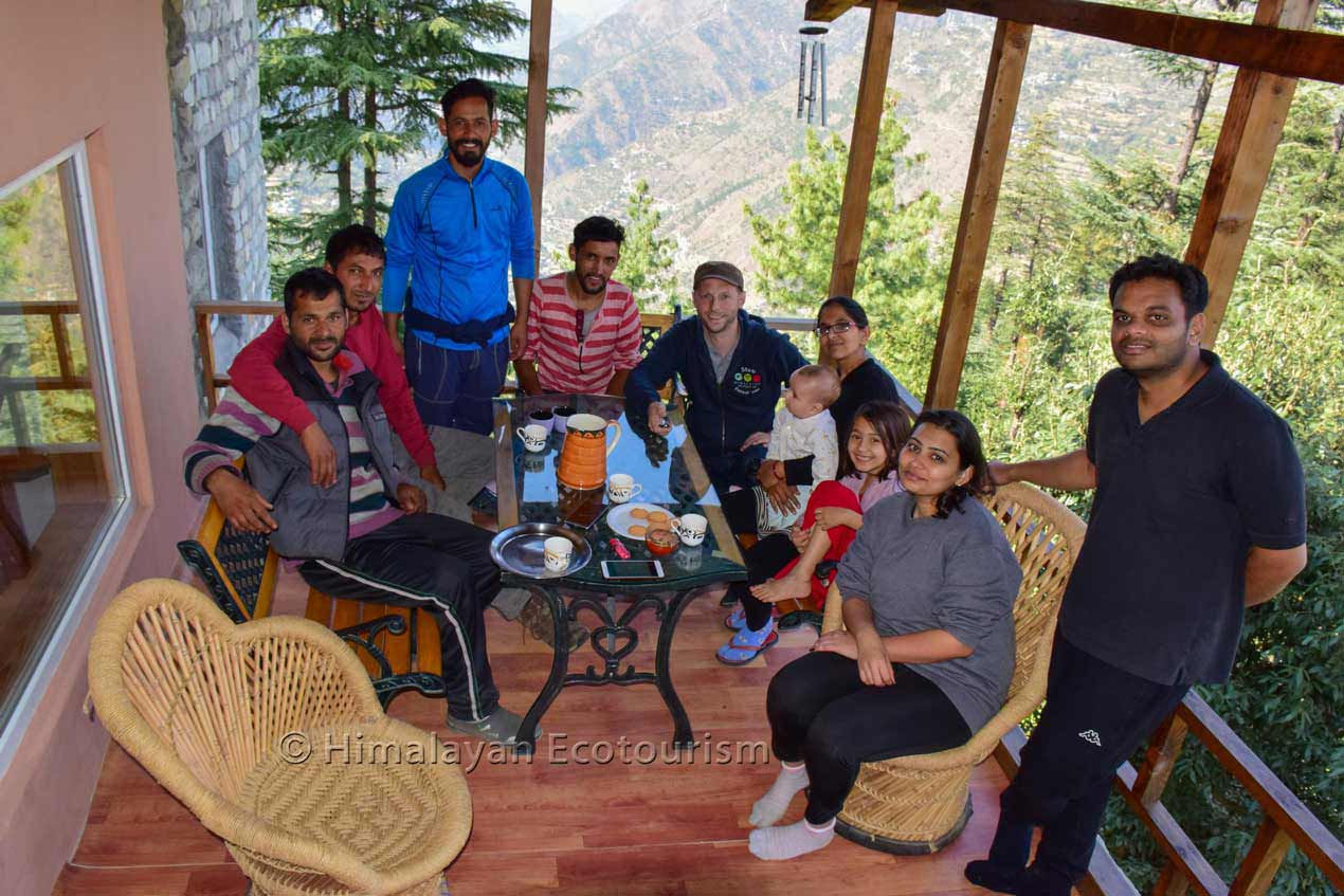 >Homestays in the Tirthan valley